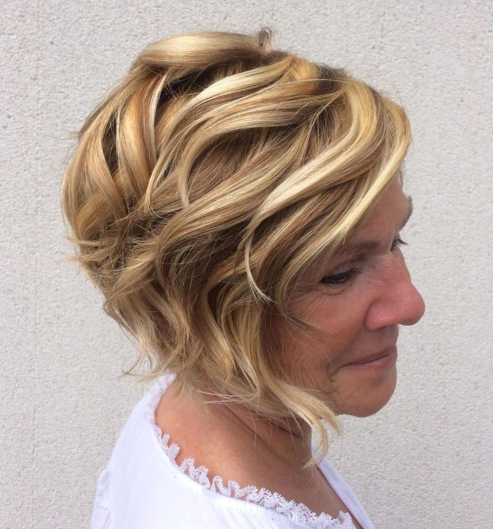Stylish Angled Curly Bob