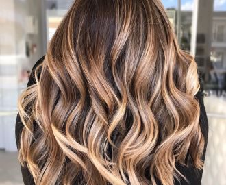 Warm Light Brown Hair with Highlights