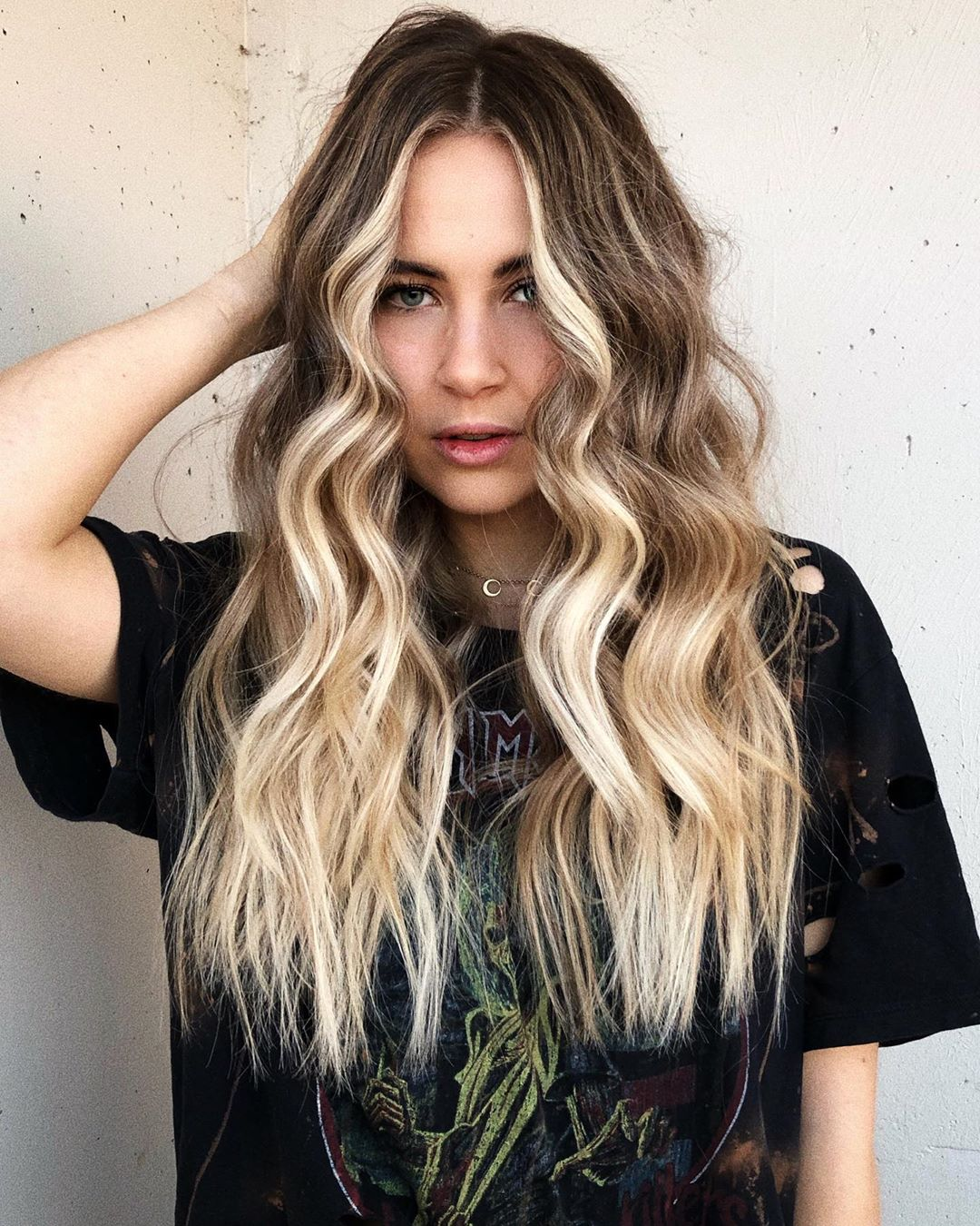 Creamy Blonde Balayage Hair