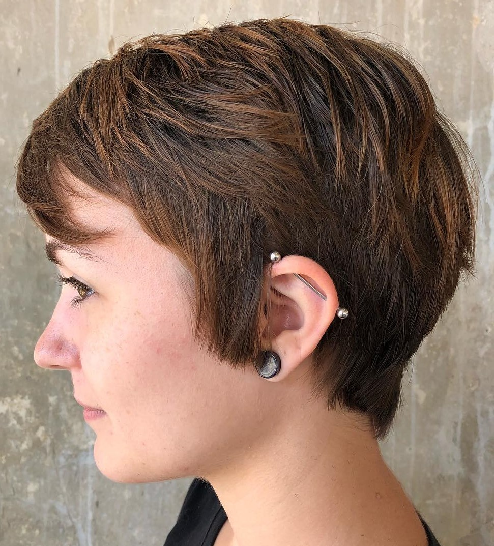 Boyish Pixie Hairstyle with Sideburns