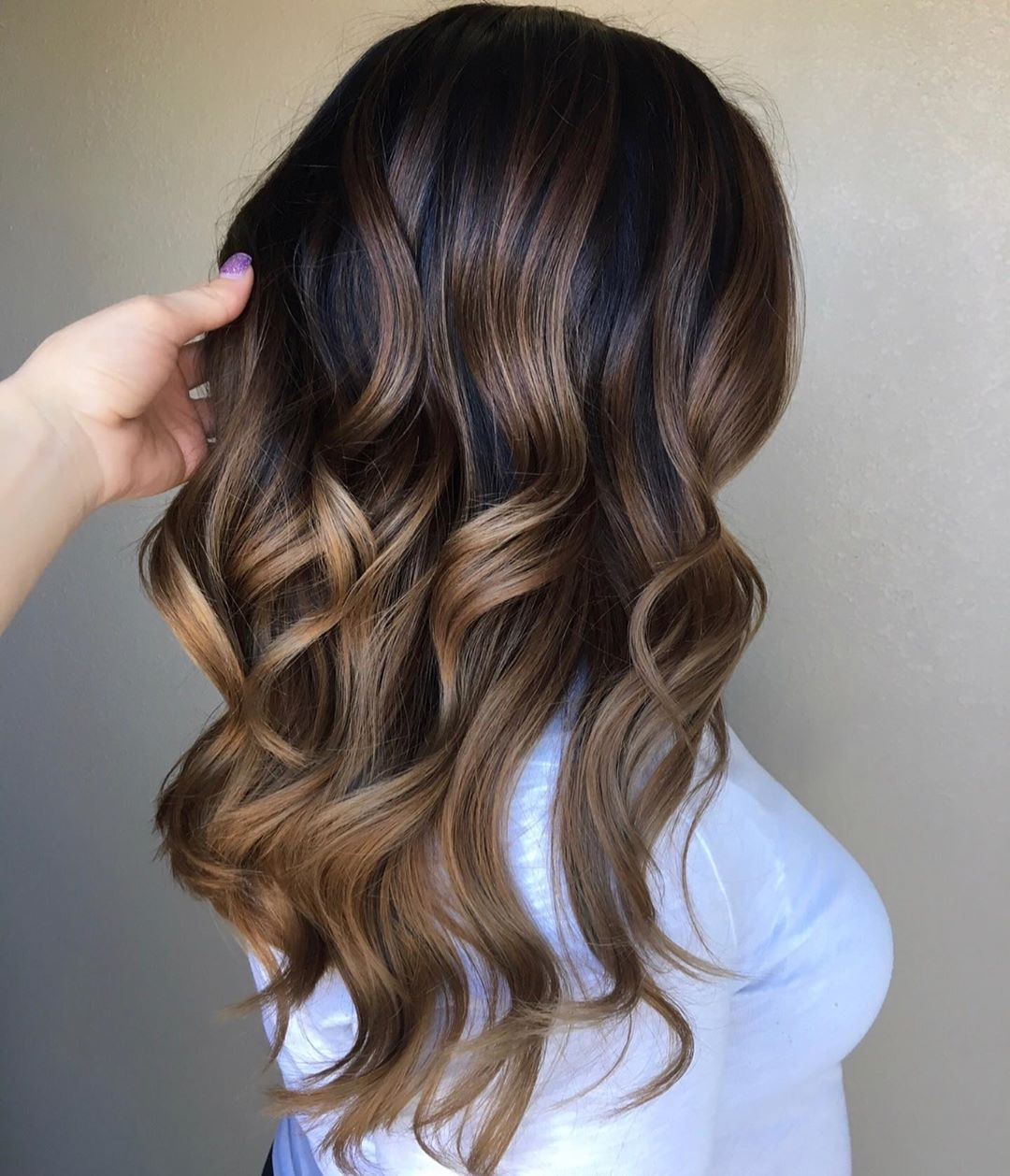 Mocha and Caramel Brown Balayage Hair