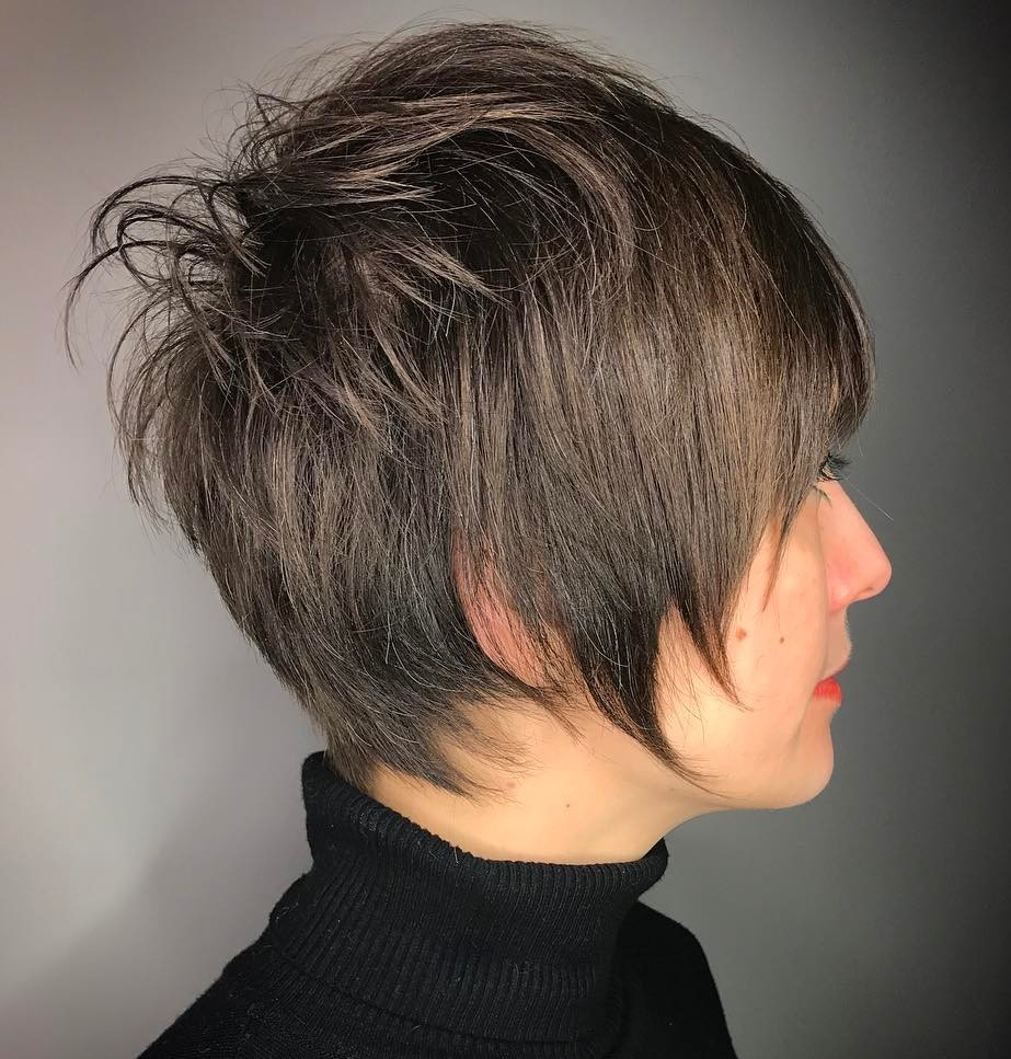 Feathered Pixie Cut Hairstyle