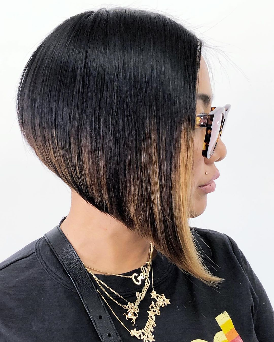 Clean Steeply Angled Bob Haircut
