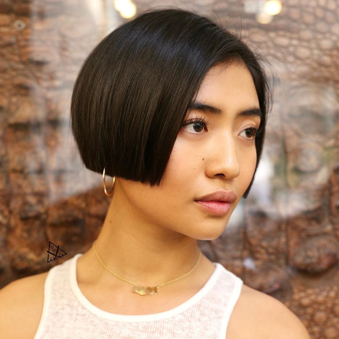 Blunt Cropped Bob for Straight Hair