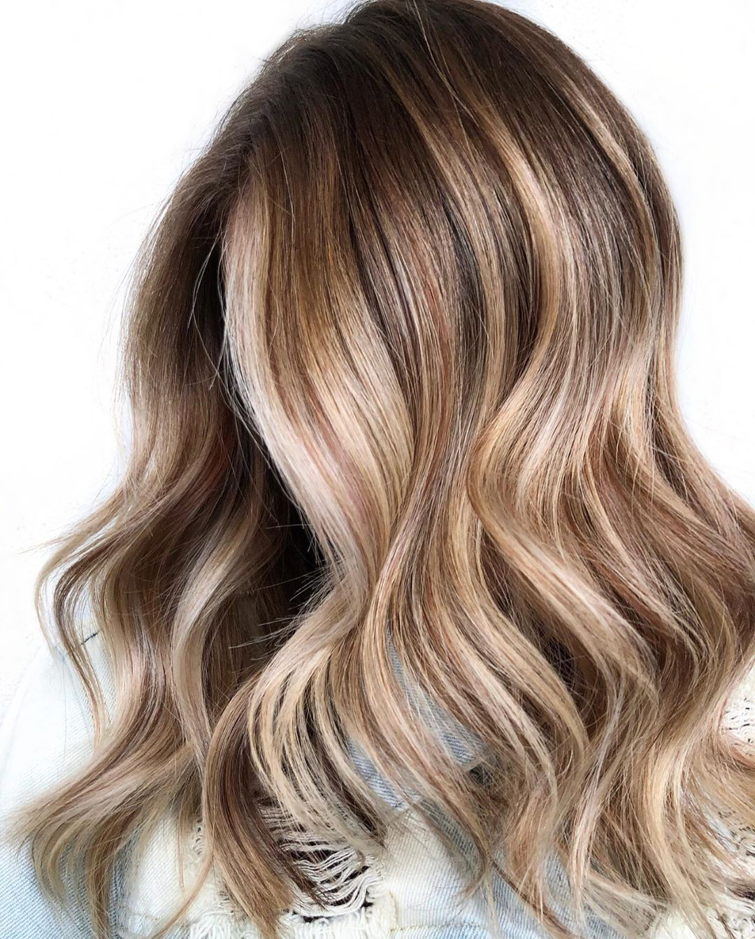 Cinnamon Highlights for Bronde Hair