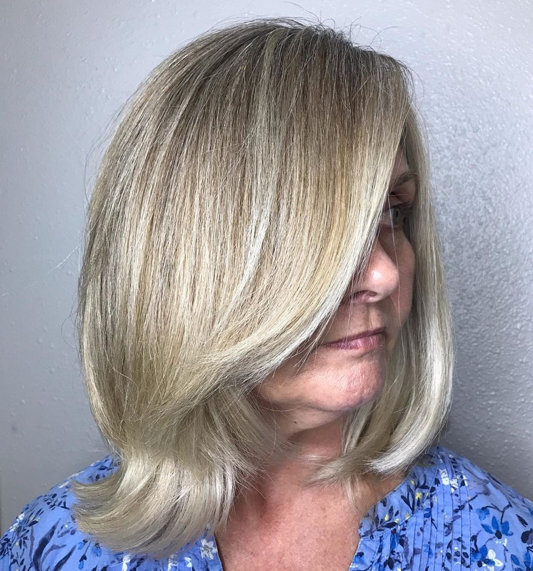 Medium Hairstyle for Women Over 50