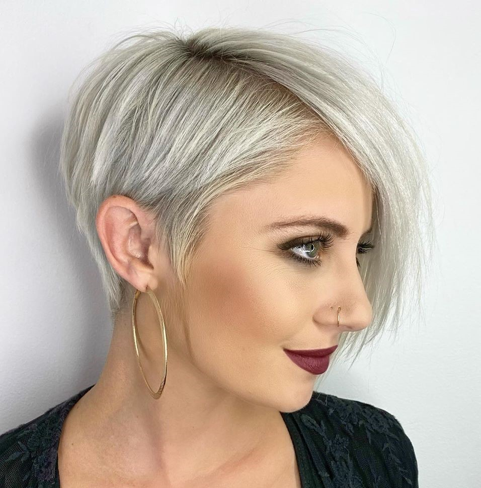 Asymmetrical Pixie for Straight Hair