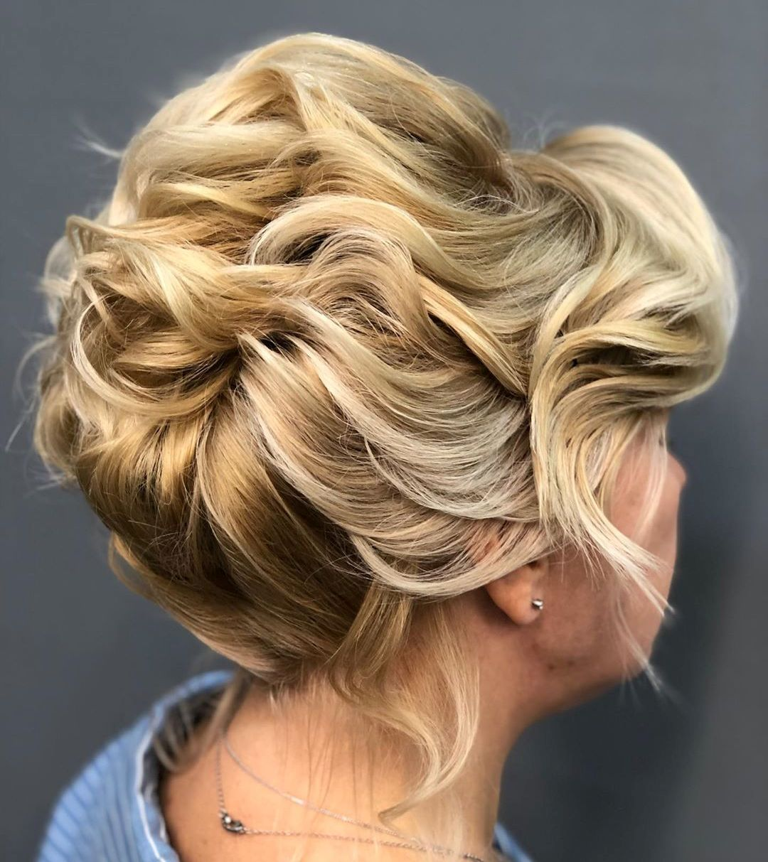 Messy Curly Updo for Women's Short Hair