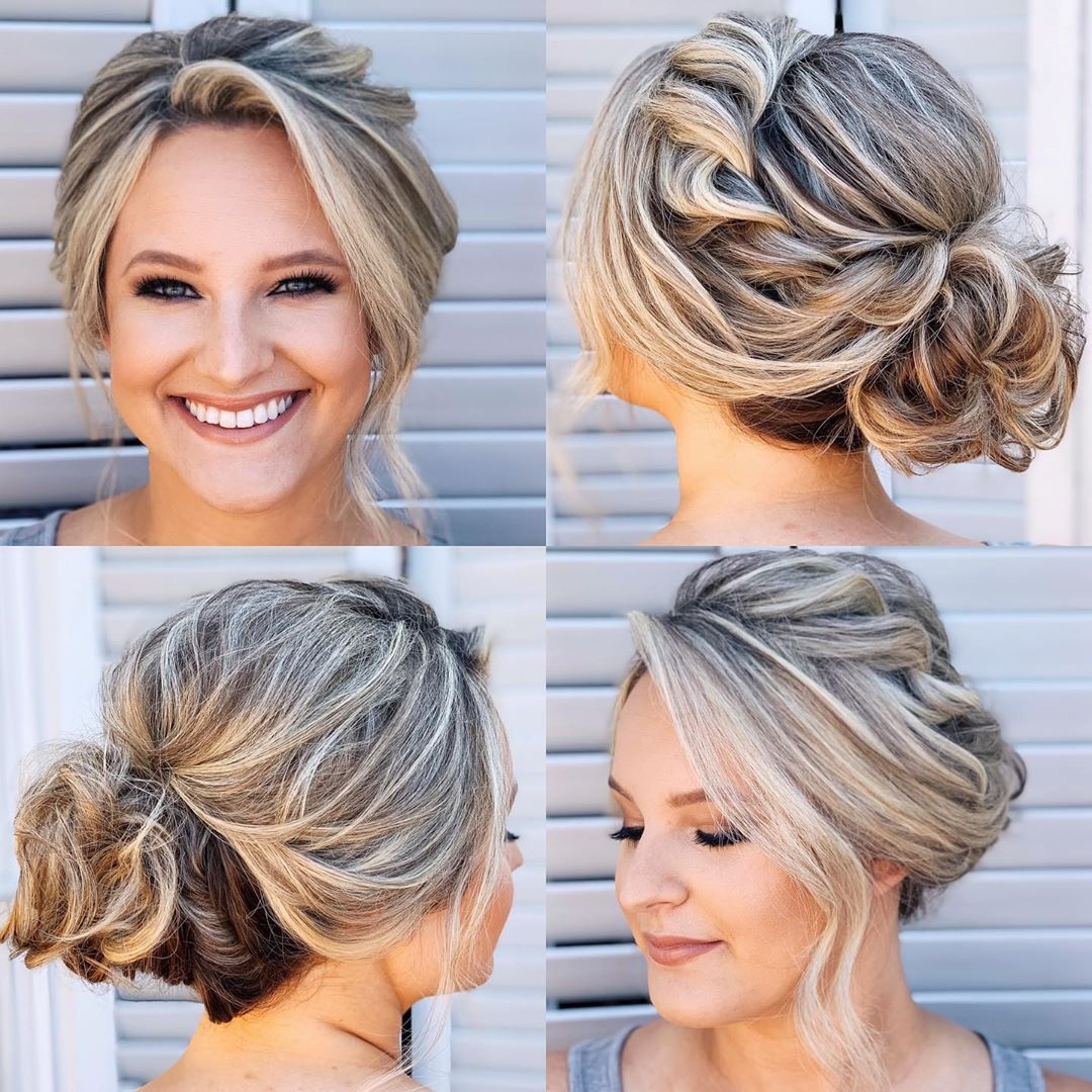 Loose Braid and Bun Upstyle
