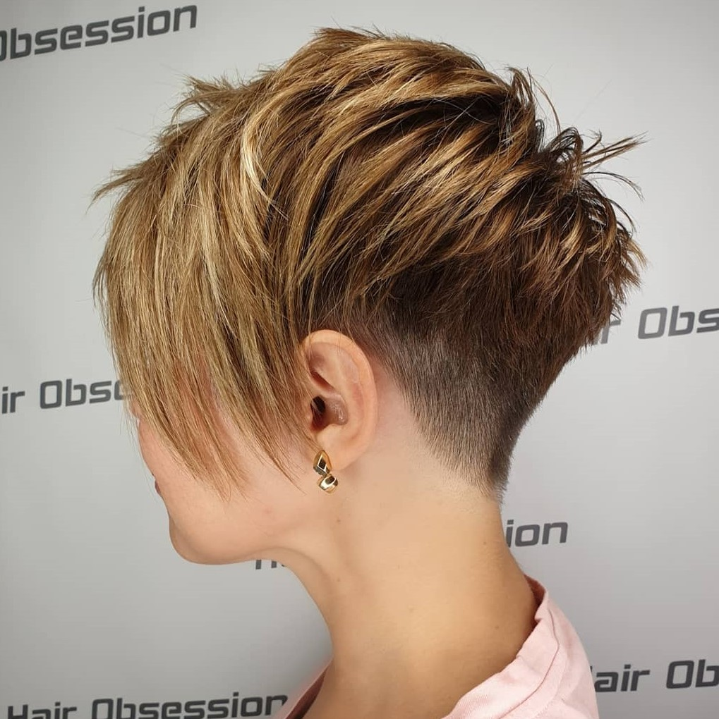 Pixie with Textured Layers ans Shaved Back