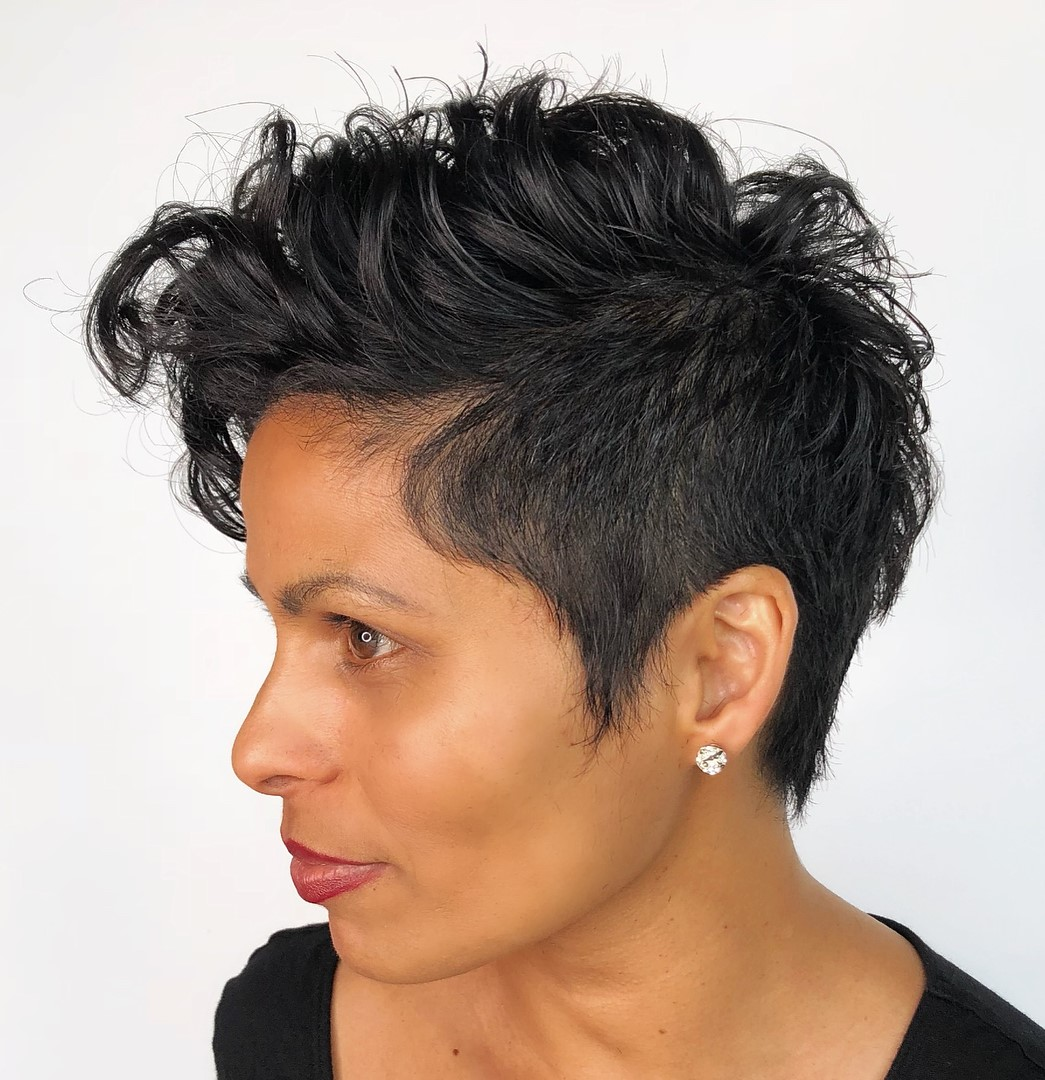 Black Pixie for Natural Curly Hair
