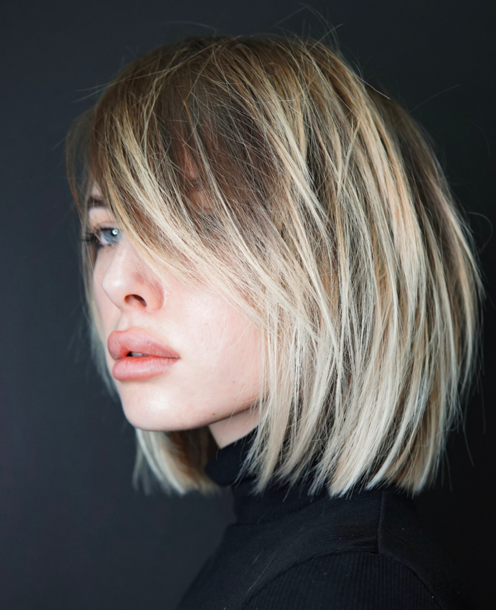 Messy Bob with Bangs Haircut Idea