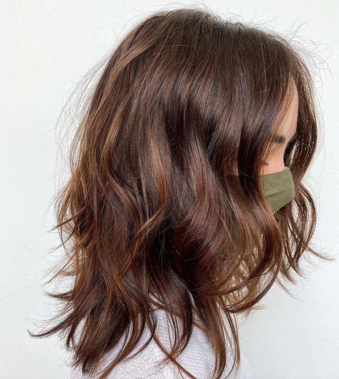 Lovely Female Haircut for Medium Hair