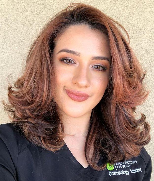 Medium Flipped Up Hairstyle