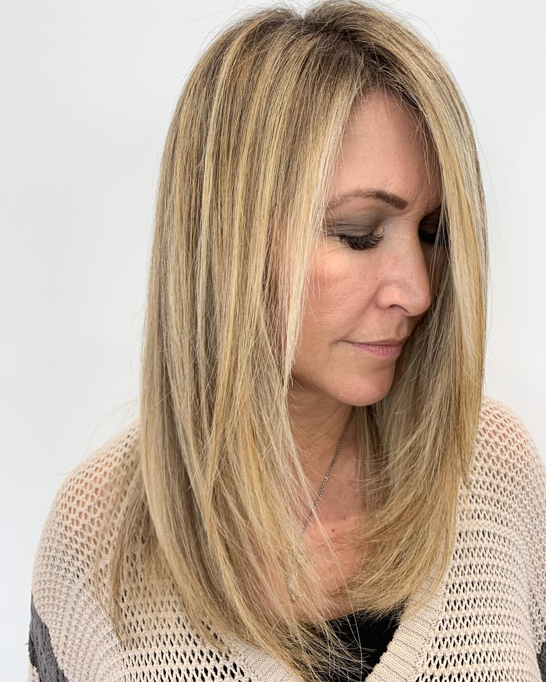 Over 50 Medium Haircut with Layers