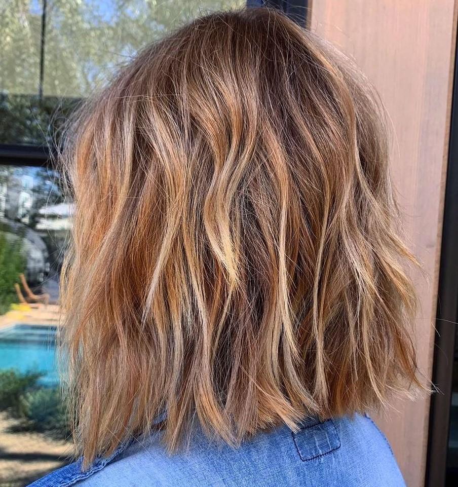 Caramel Balayage Hairstyle for Medium Hair