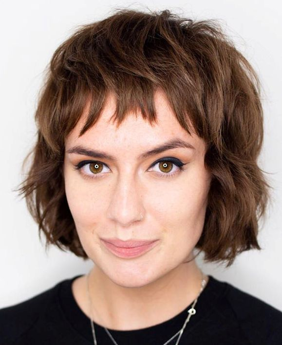 Bob Haircut with Baby Bangs