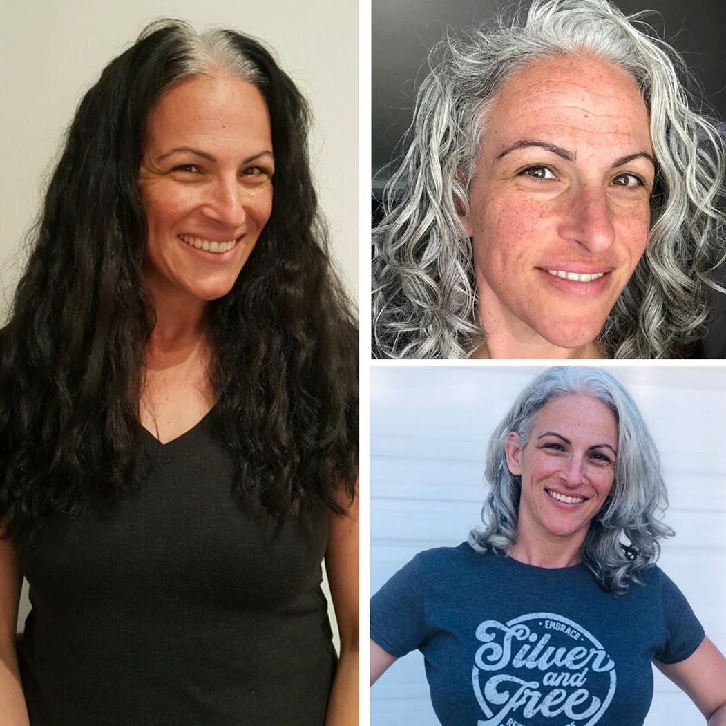 Natural Gray Hair Before and After Pictures