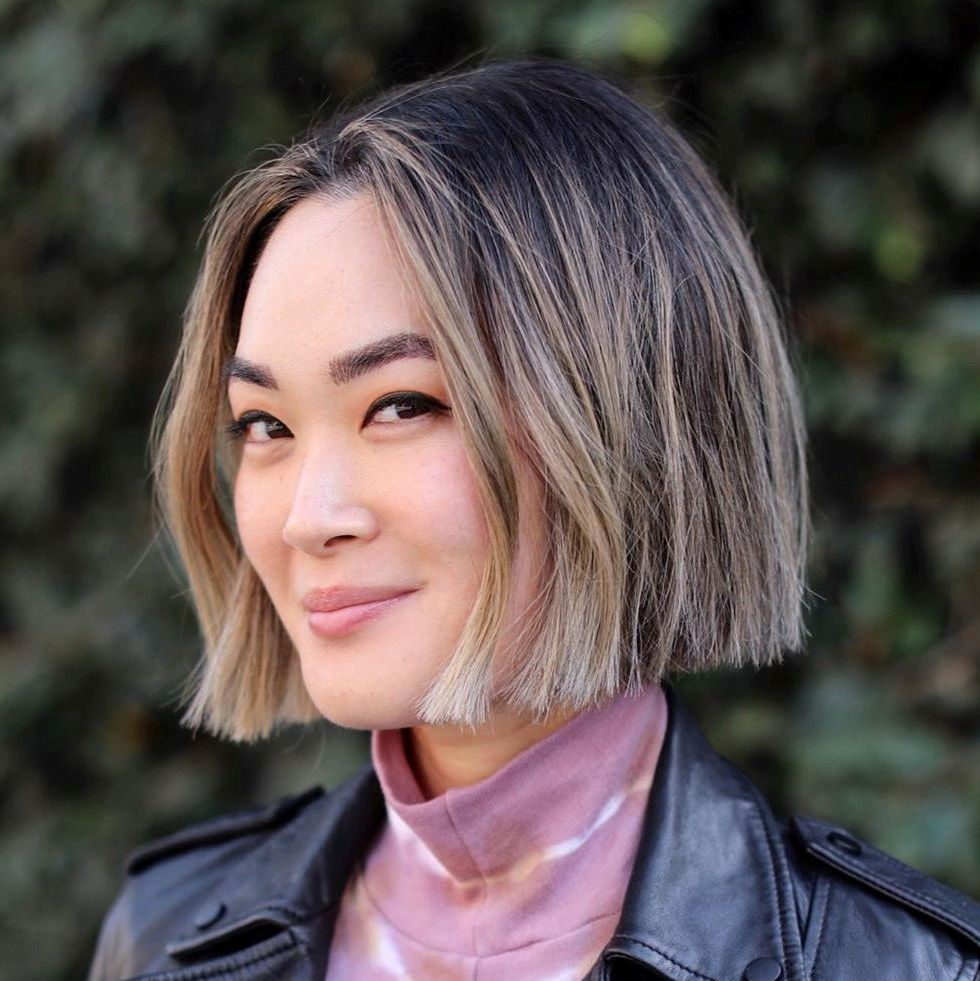 Edgy Straight Chin-Length Bob