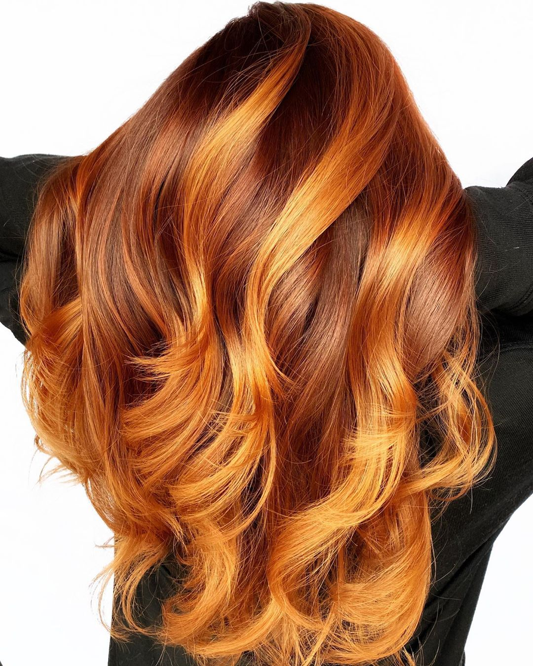 Light Copper Highlights for Red Hair