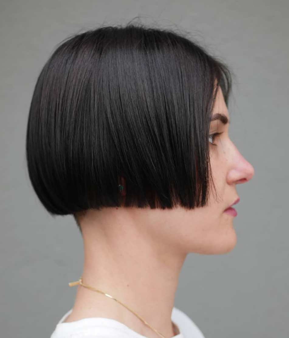 Very Short Blunt Undercut Bob