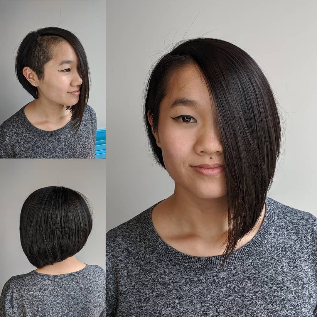 Asymmetrical Bob with an Undercut
