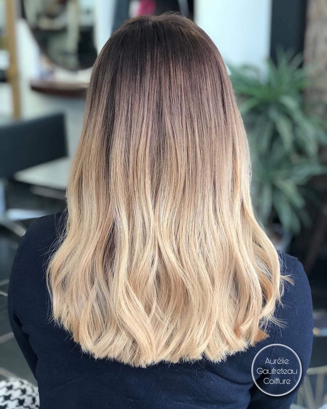 Blonde Ombre with Stretched Roots