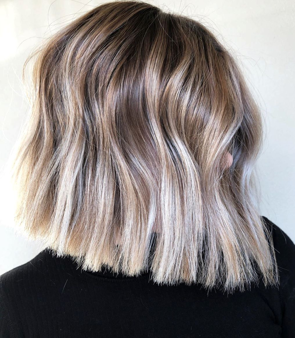 Blunt Bob with Bright Balayage
