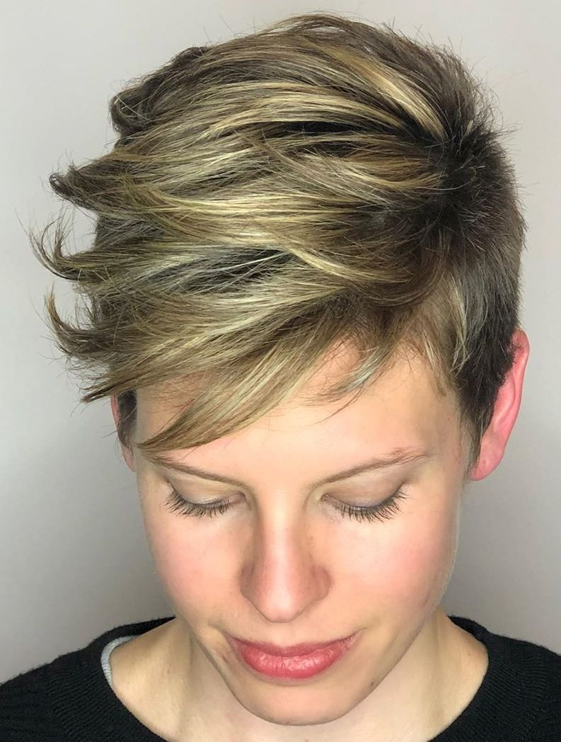 Undercut Hairstyle with Side-Swept Layers