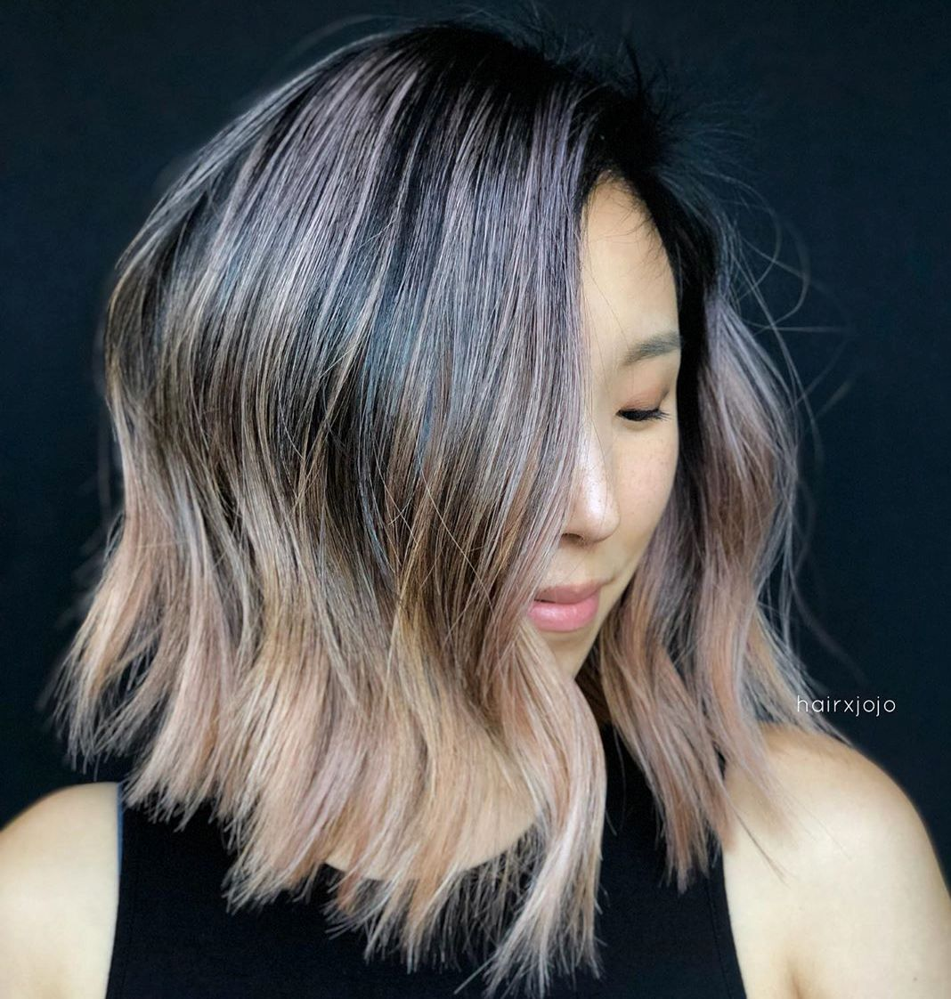 Lob with Blunt Cut Layers
