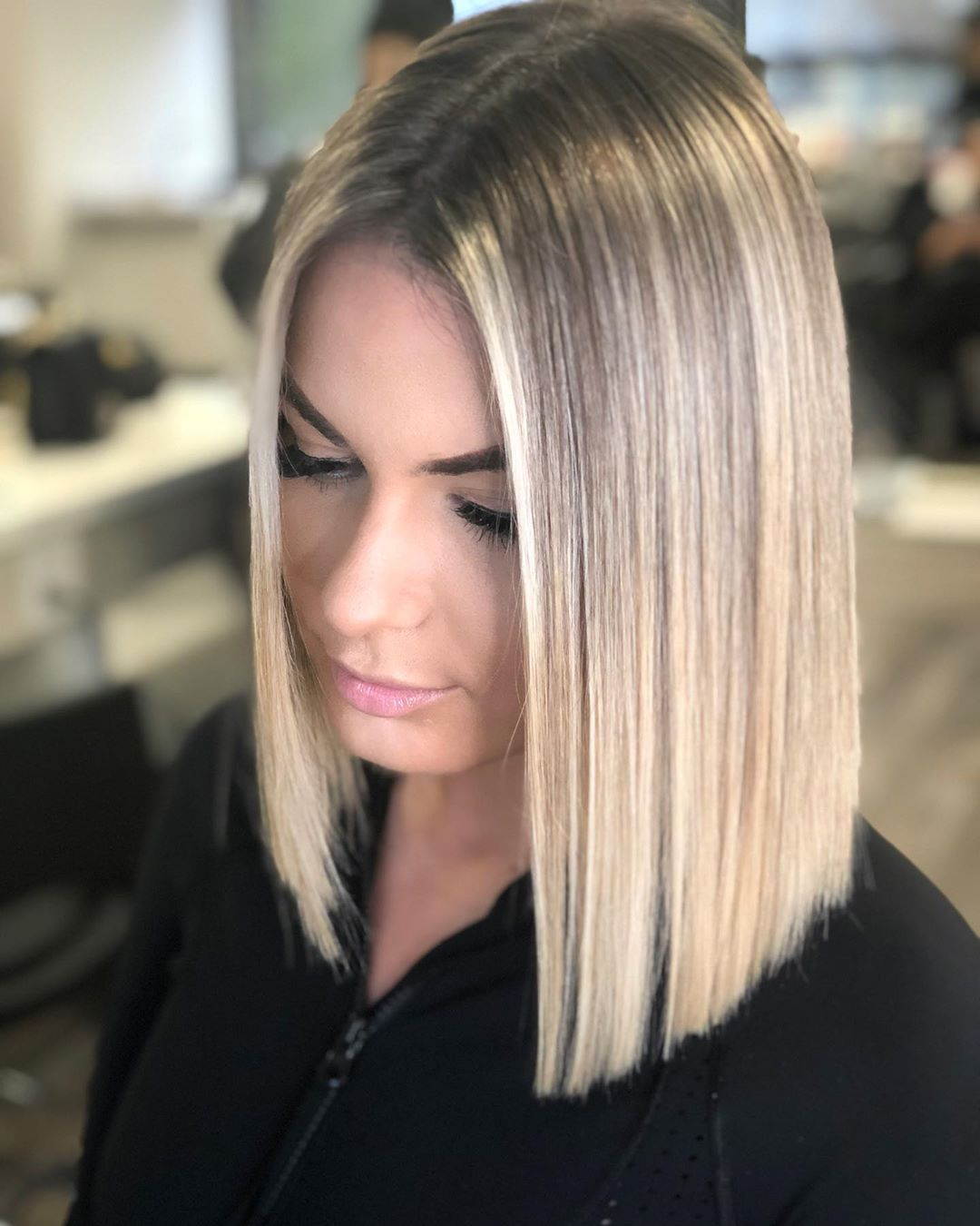 Sleek Straight Blunt Bob