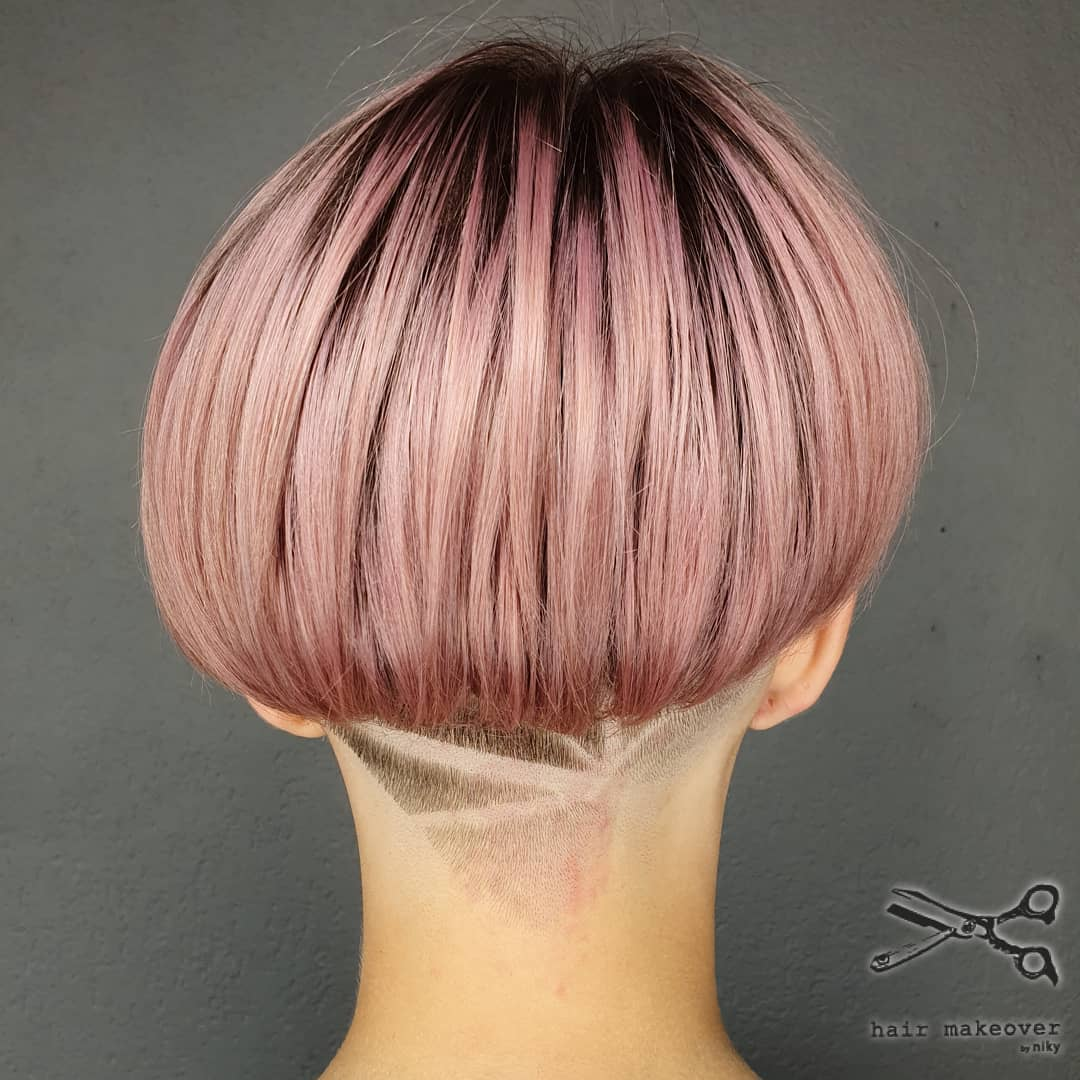 Short Bob with Nape Undercut Fade
