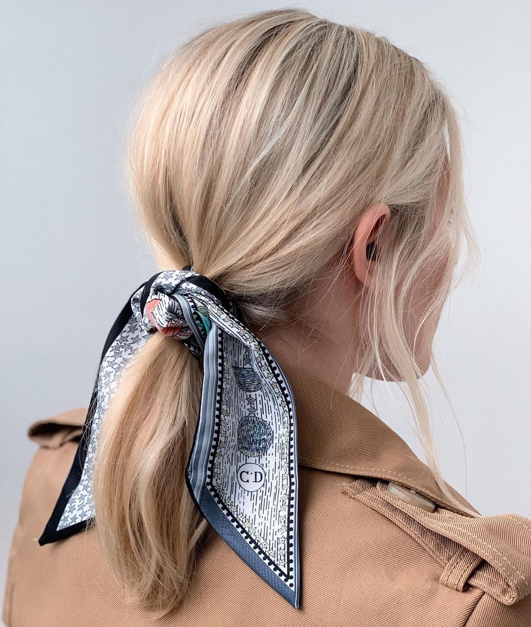 Pretty Low Ponytail for Fine Hair