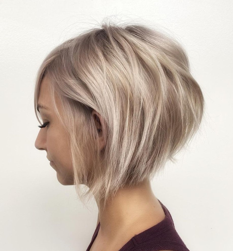 Blonde Bob Hairstyle for Thin Hair