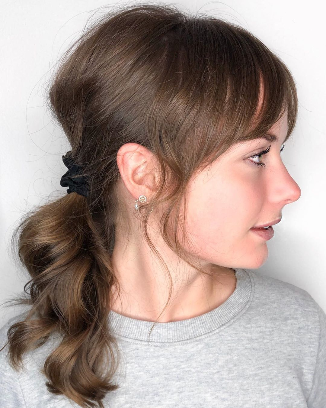 Low Ponytail for Fine Curly Hair
