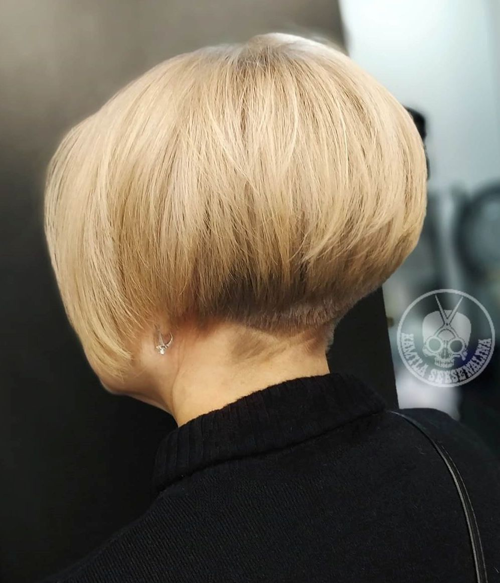 Short Stacked Undercut Bob