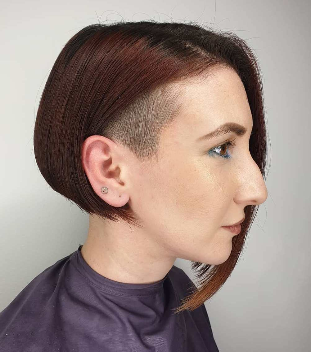 Asymmetrical Bob with Undercut