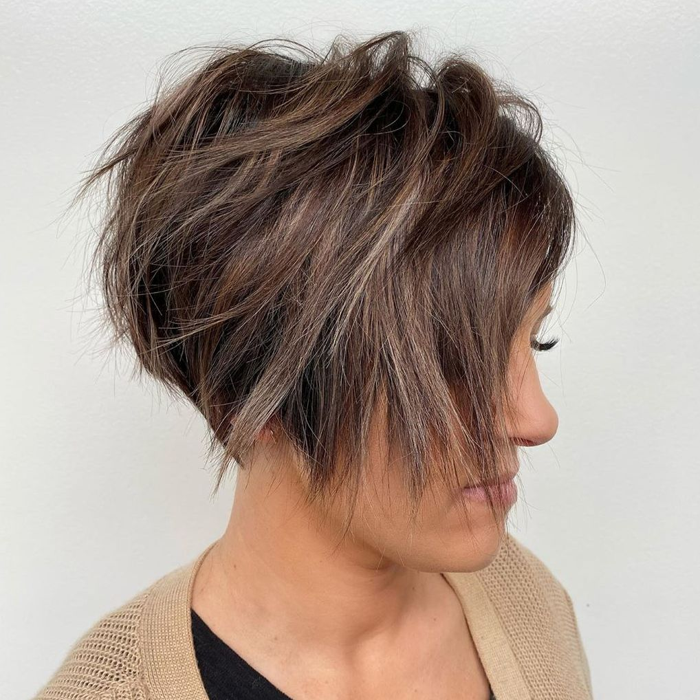 Messy Feathered Pixie Cut