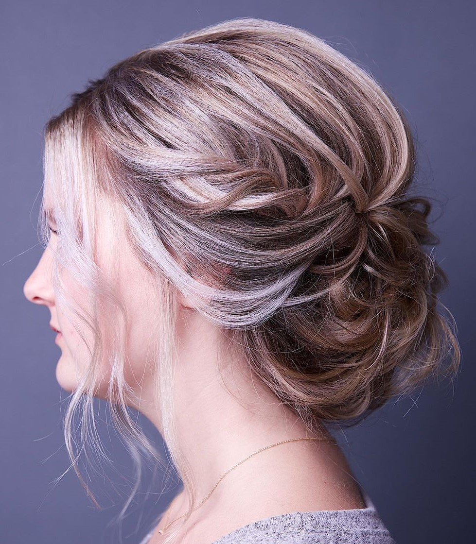 Messy Low Bun for Fine Hair