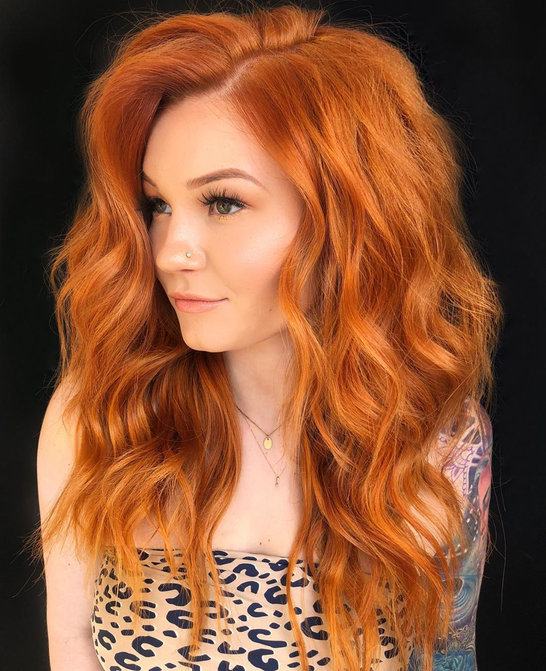 Long Curly Copper Red Hair