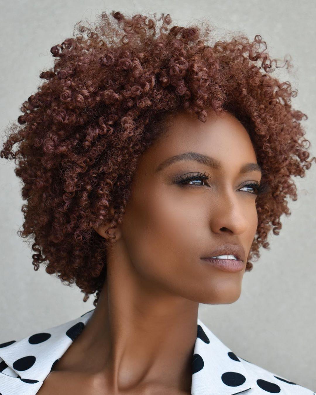 Auburn Hair Color for Natural Hair