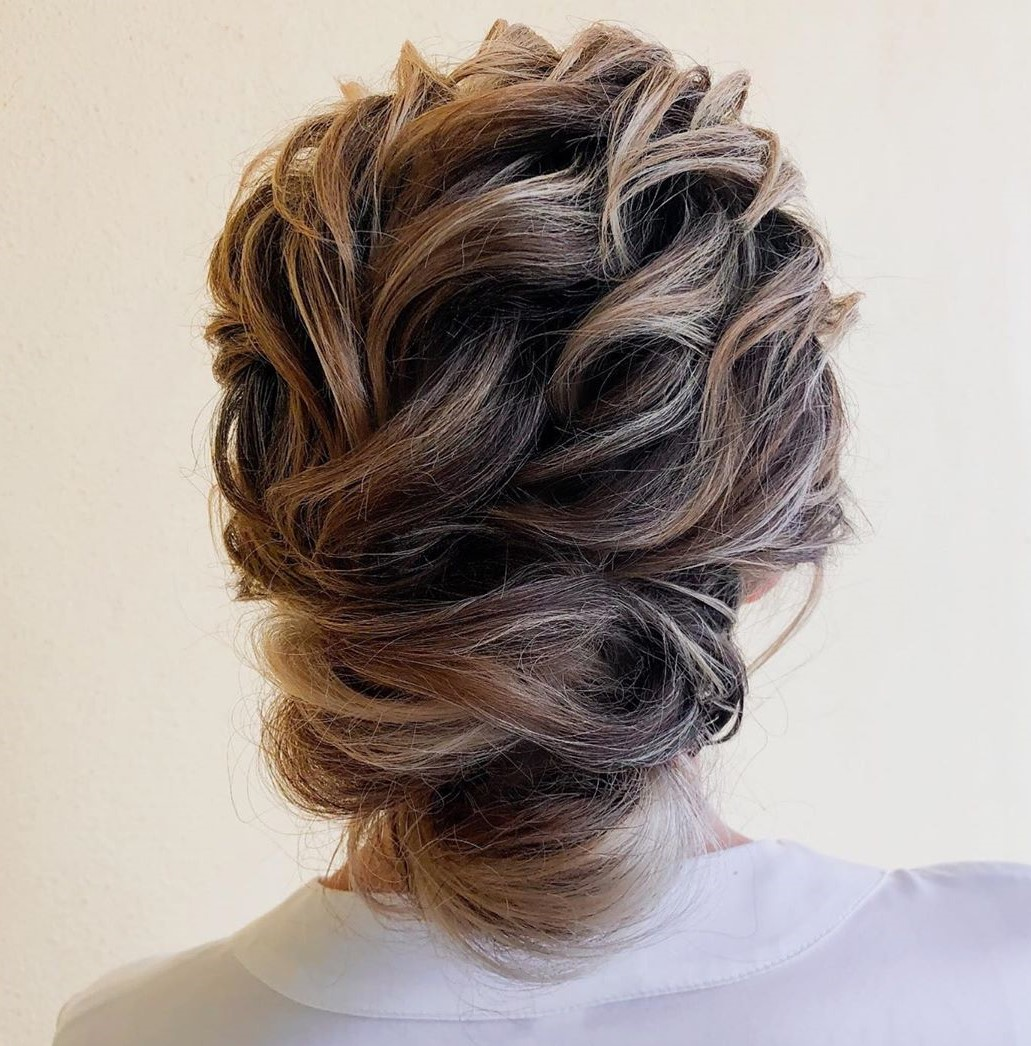 Twisted Bend and Pin Updo