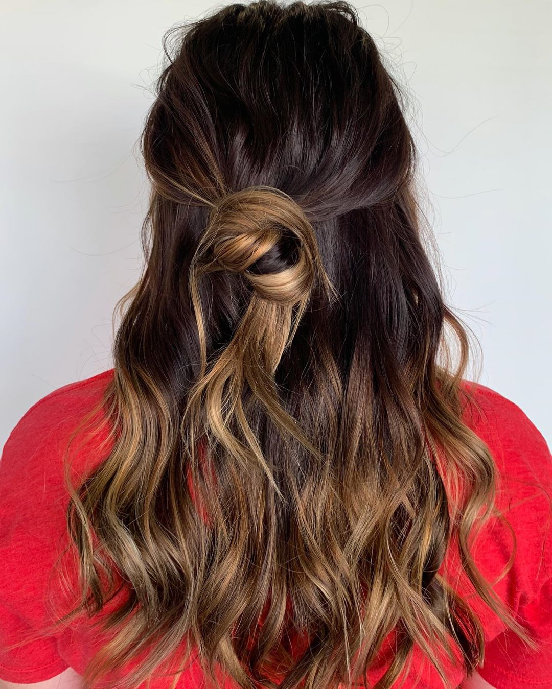 Dark Hair with Light Chocolate Ends