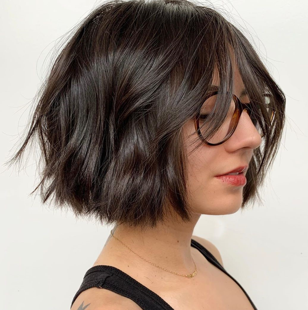 Hairstyle with Classic Fringe