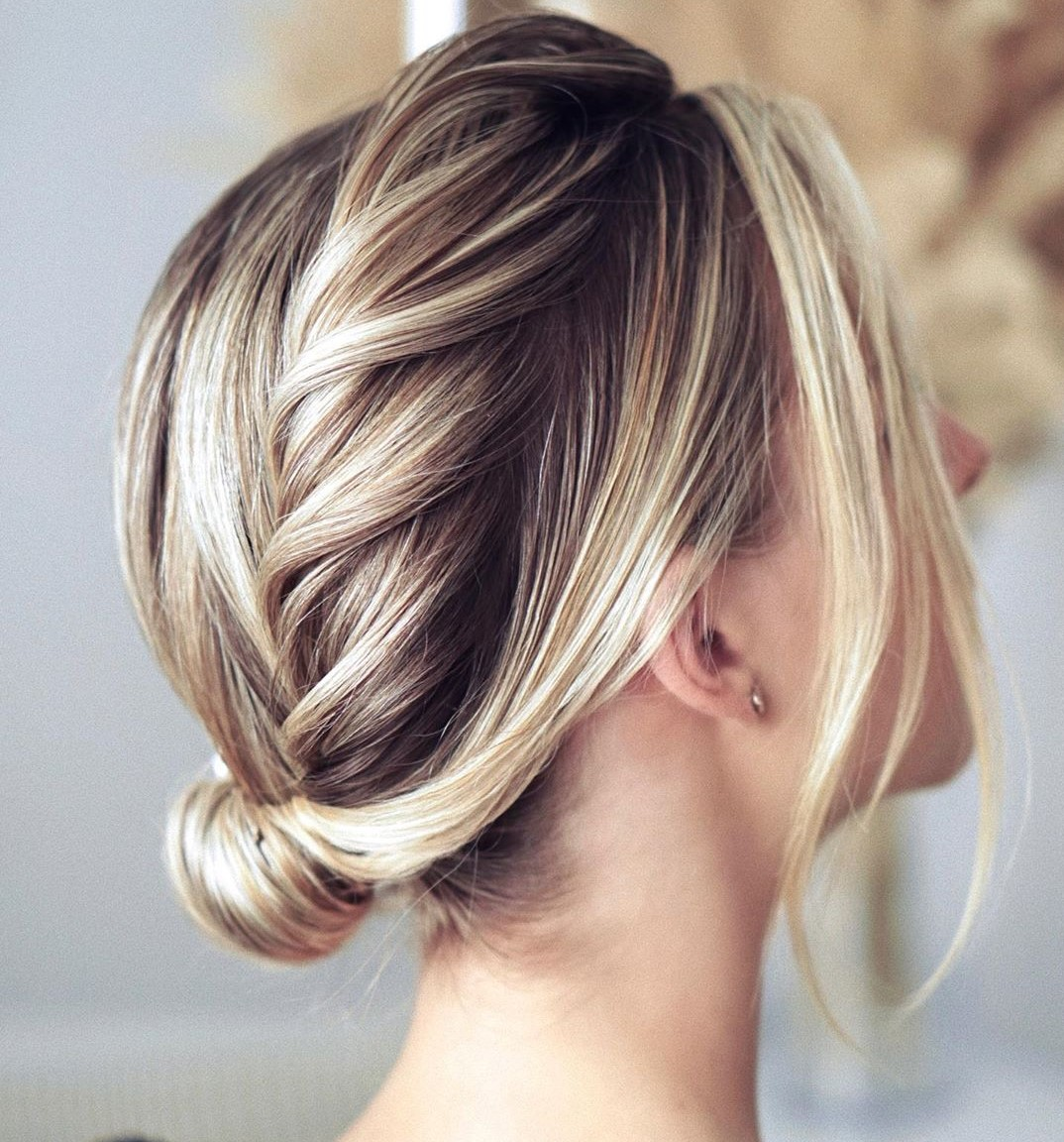 Thin Hair Updo with a Twisted Crown Braid