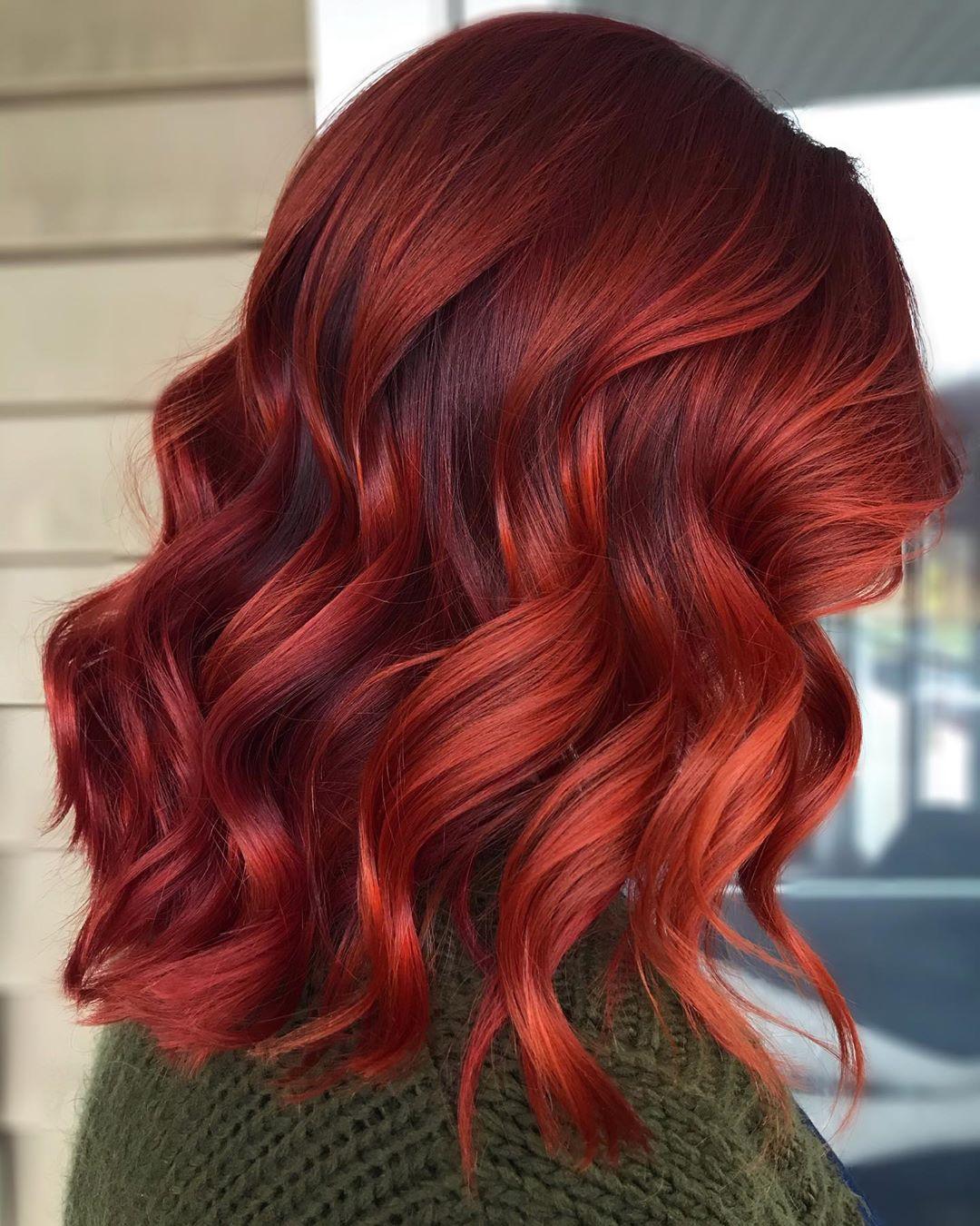 Bright Auburn Red Hair