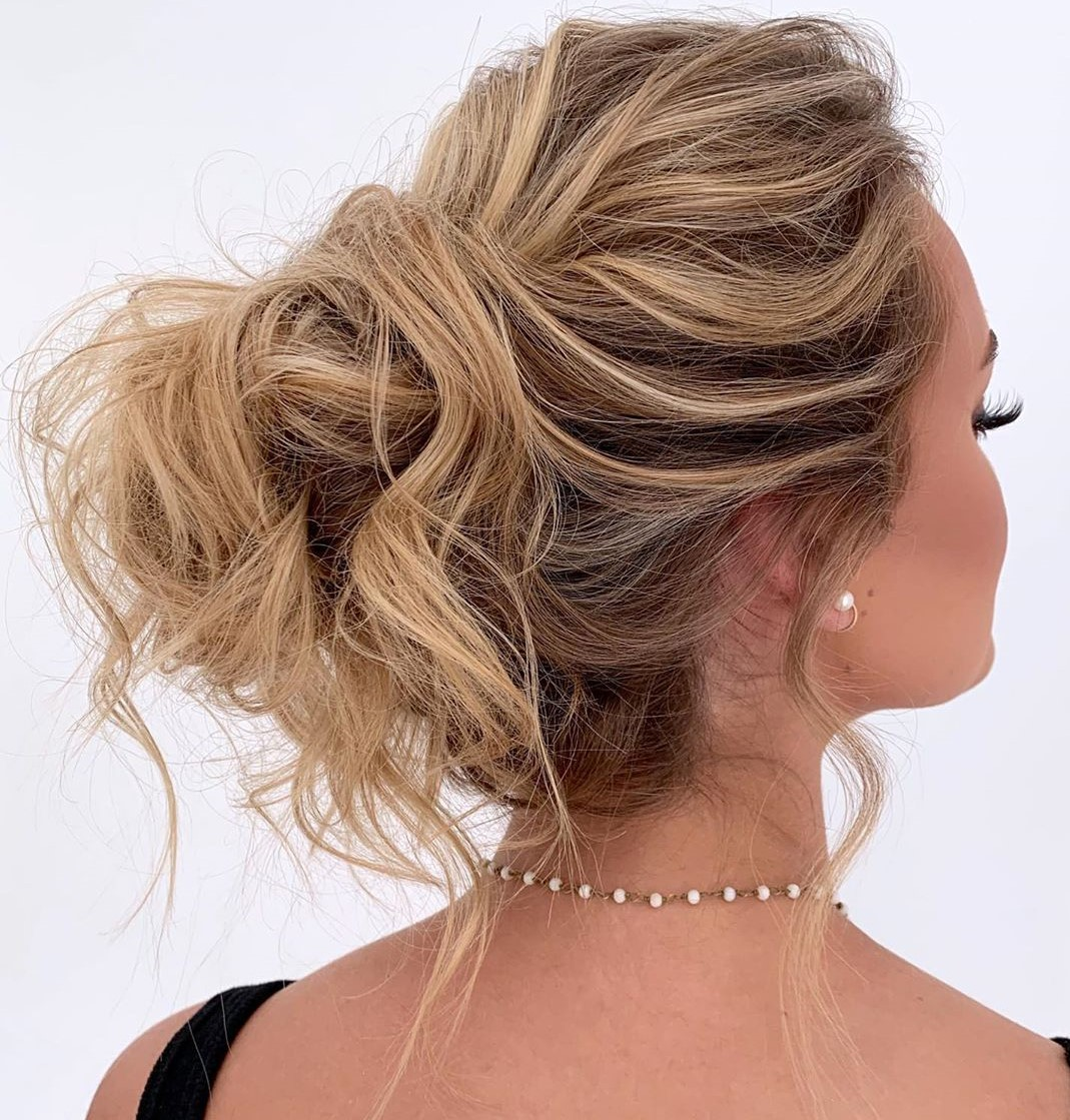Messy Curly French Twist Updo