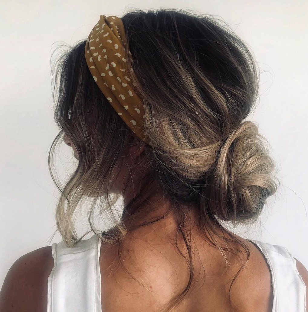 Messy Bun Updo with a Headband