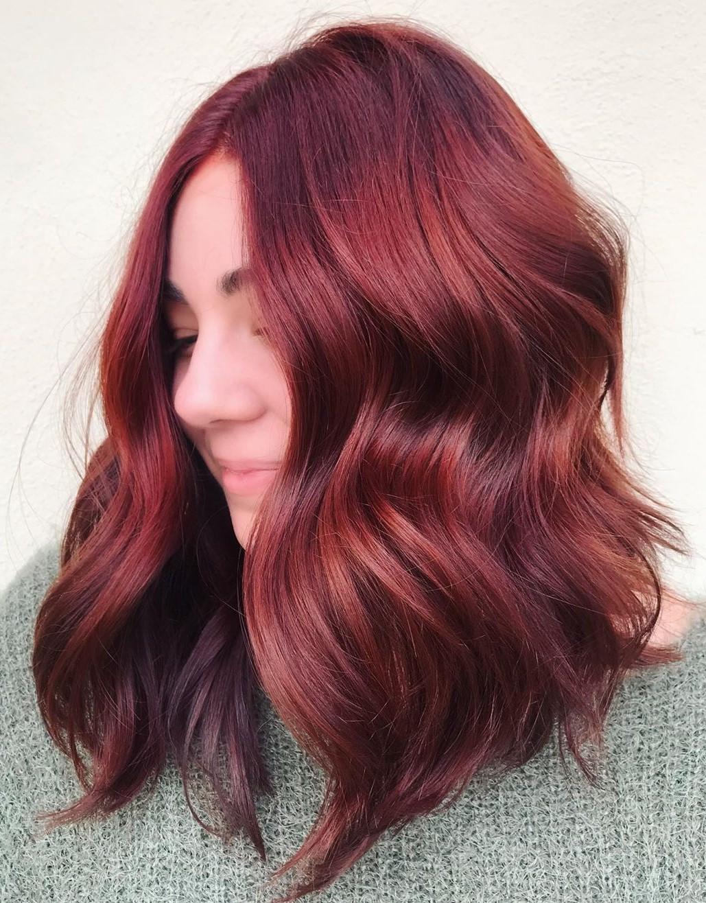 Burgundy and Deep Auburn Hair Color