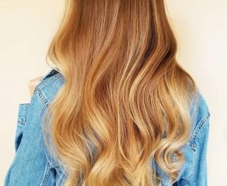 Auburn Hair with Golden Blonde Highlights